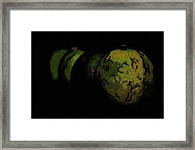 Limes Framed Print by Toppart Sweden