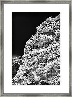 Limestone Framed Print by John Rizzuto