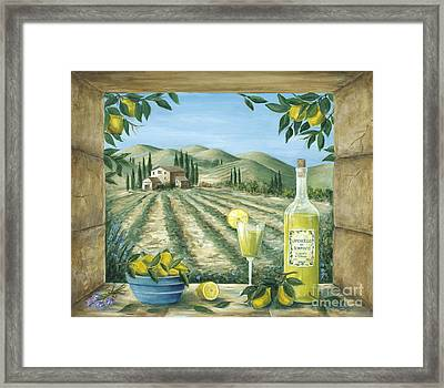 Limoncello Framed Print by Marilyn Dunlap
