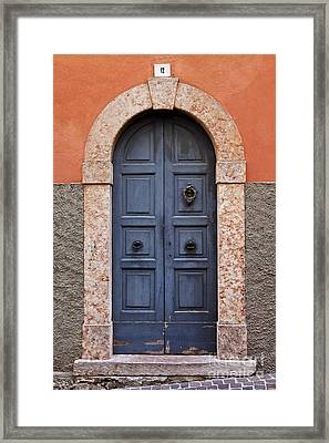 Limone Door Framed Print by Brian Jannsen