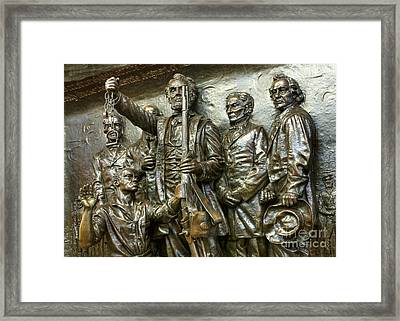 Lincoln Arming The Freed Slaves Framed Print by David Bearden