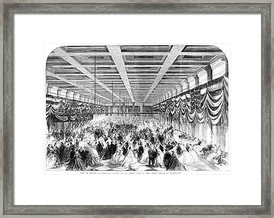 Lincoln Ball, 1865 Framed Print by Granger