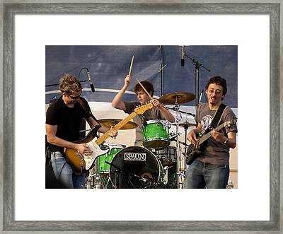 Lincoln Brewster And Band Framed Print by Bill Gallagher