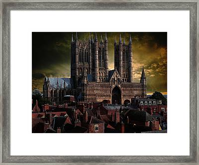 Lincoln Cathedral Framed Print by Martin Billings