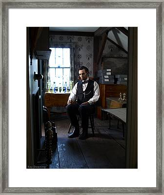 Lincoln In The Attic 2 Framed Print by Ray Downing