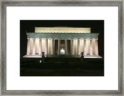 Lincoln Memorial Framed Print by Andrew Johnson