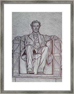 Lincoln Memorial Framed Print by Christy Saunders Church