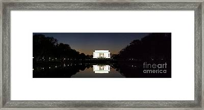 Lincoln Memorial Framed Print by Mike Baltzgar