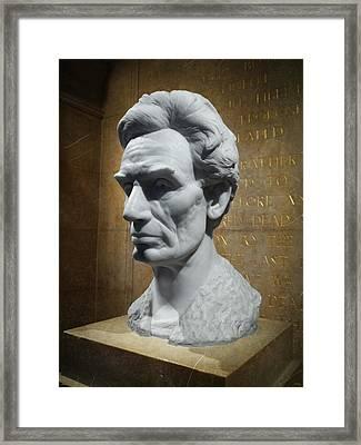 Lincoln Memorial Sculpt Framed Print by Glenn McCarthy