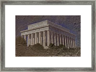 Lincoln Memorial Framed Print by Skip Willits