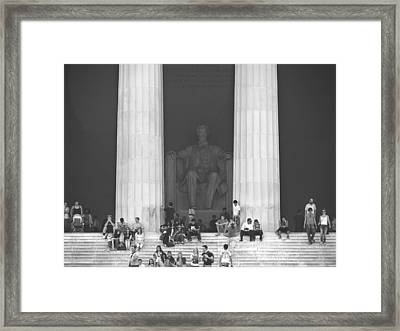 Lincoln Memorial - Washington Dc Framed Print by Mike McGlothlen