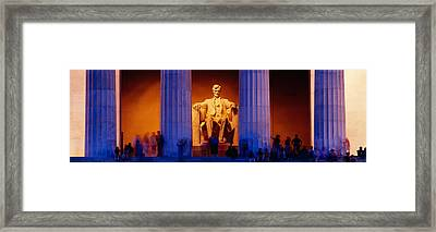 Lincoln Memorial, Washington Dc Framed Print by Panoramic Images