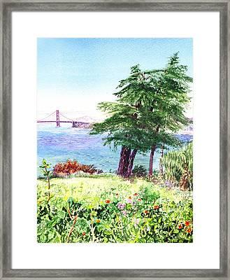 Lincoln Park In San Francisco Framed Print by Irina Sztukowski