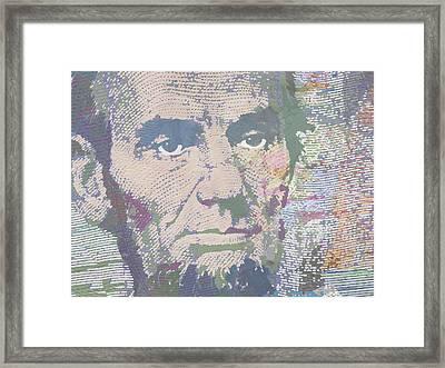 Lincoln Reimagined Horizontal Framed Print by Tony Rubino