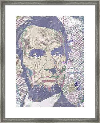 Lincoln Reimagined Vertical Framed Print by Tony Rubino