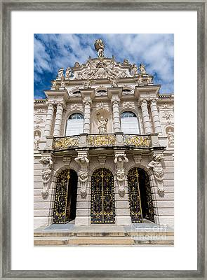 Linderhof Palace Entrance - Bavaria Germany Framed Print by Gary Whitton
