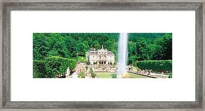 Linderholf Castle Alpine Street Germany Framed Print by Panoramic Images