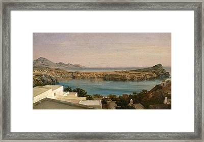 Lindos Rhodes Framed Print by Frederic Leighton