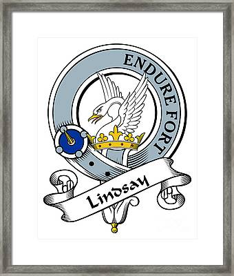 Lindsay Clan Badge Framed Print by Heraldry