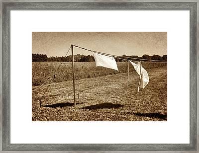 Line Dance 1 Framed Print by Nikolyn McDonald