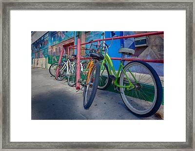 Line Em Up Framed Print by Scott Campbell
