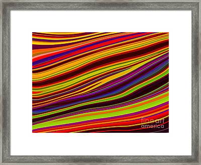 Linear Abstract Framed Print by Imani  Morales