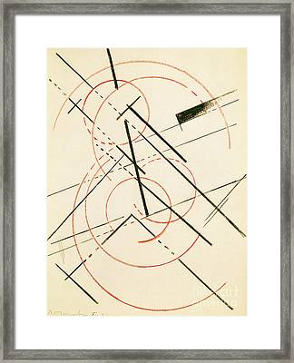 Linear Composition Framed Print by Lyubov Sergeevna Popova