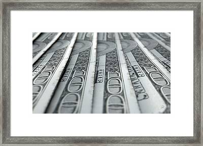 Lined Up Close-up Banknotes Framed Print by Allan Swart