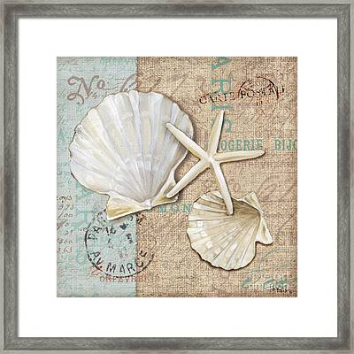 Linen Shells I Framed Print by Paul Brent