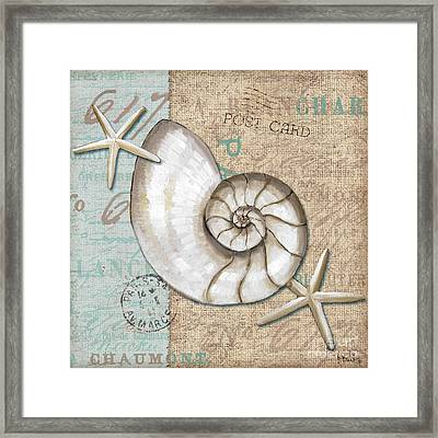 Linen Shells IIi Framed Print by Paul Brent
