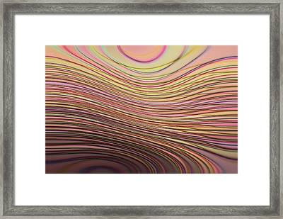 Lines And Circles -p08a Framed Print by Variance Collections