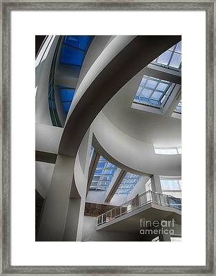 Lines And Curves Framed Print by Anne Rodkin