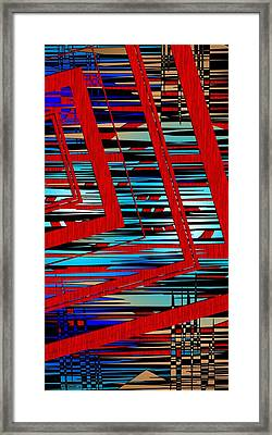 Lines And Design Framed Print by Mario Perez