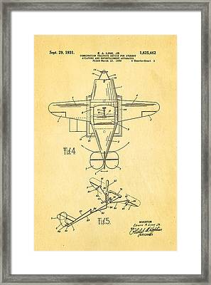 Link Flight Simulator Patent Art 1931 Framed Print by Ian Monk