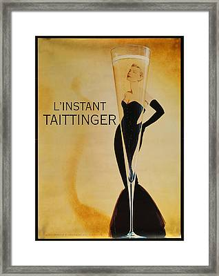 L'instant Taittinger Framed Print by Georgia Fowler
