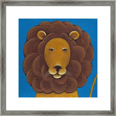 Lion Framed Print by Christy Beckwith