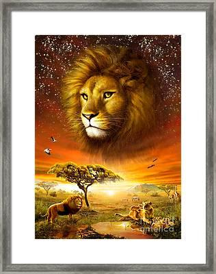 Lion Dawn Framed Print by Adrian Chesterman