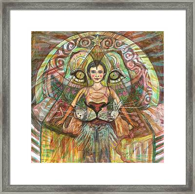 Lion Heart Framed Print by Elizabeth D'Angelo