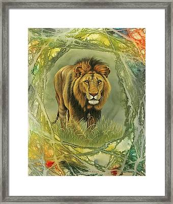 Lion In Abstract Framed Print by Paul Krapf