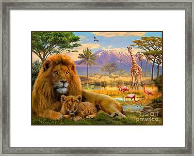 Lion Framed Print by Jan Patrik Krasny
