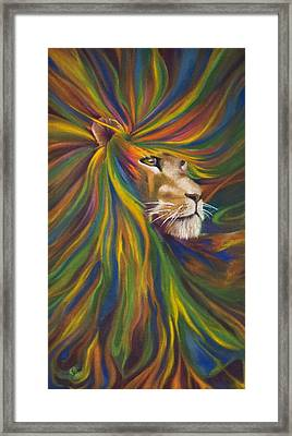 Lion Framed Print by Kd Neeley