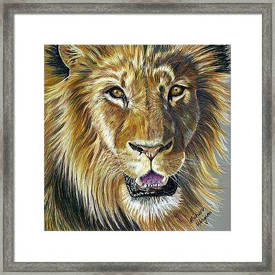 Lion King Framed Print by Michelle Wrighton