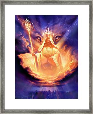 Lion Of Judah Framed Print by Jeff Haynie