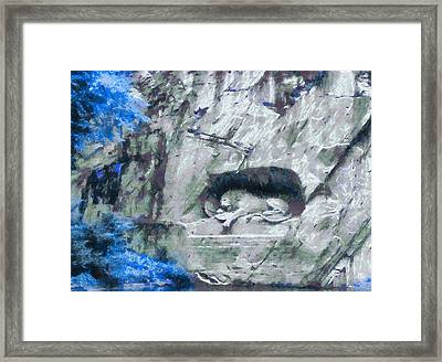 Lion Of Lucerne Framed Print by Dan Sproul