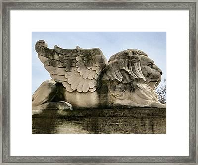 Lion With Wings Framed Print by Patricia Januszkiewicz