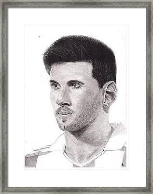 Lionel Messi Framed Print by Ajay G