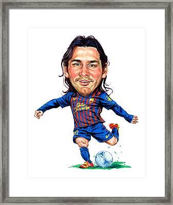 Lionel Messi Framed Print by Art