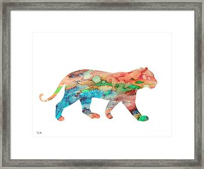 Lioness Framed Print by Luke and Slavi