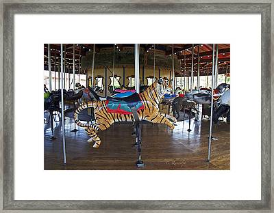 Lions And Tigers And Bears Framed Print by Cheri Randolph