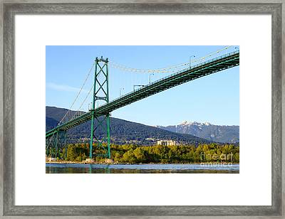 Lions Gate Bridge Framed Print by Charline Xia
